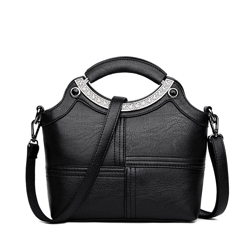 2018 New PU Leather Handbags Women Large Capacity Soft Crossbody Shoulder Bags Ladies Casual Stitching Solid Tote For Women kadell unisex handbags for men large capacity portable shoulder bags travel bags package soft pu leather retro bags women