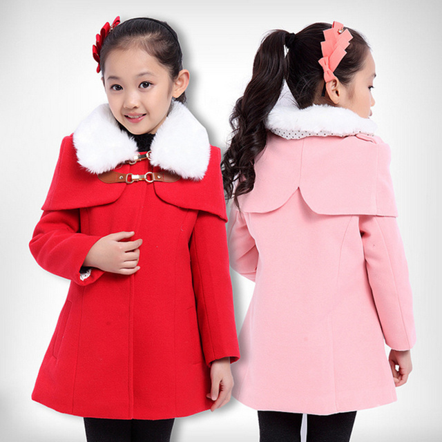 2015 New Winter Kids Girls Designer Coat Children Jacket Trench ...