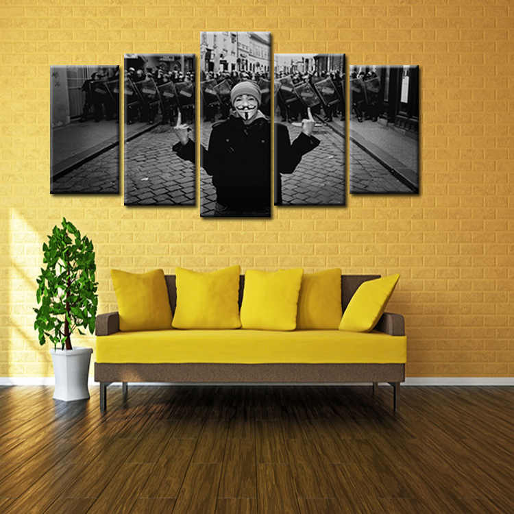 5pieces/set Factory wholesale Movie Poster Series Painting Custom Canvas Print On Canvas Printing Wall Pictures Home Decoration