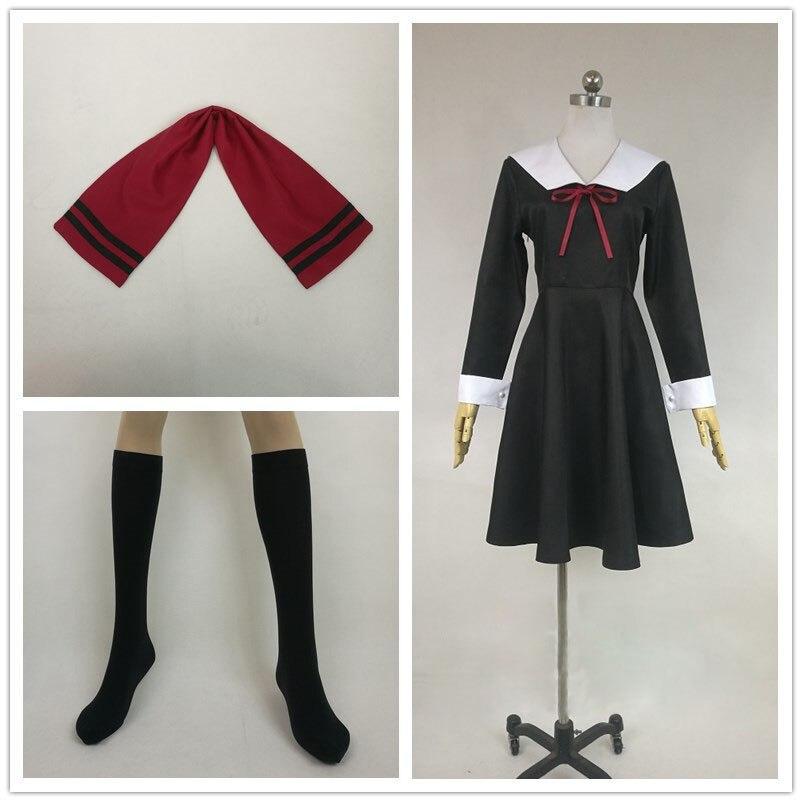 Anime Kaguya-sama: Love is War Cosplay Costume Shinomiya Kaguya Cosplay Costume Fujiwara Chika Girl Black Lolita Dress for Women