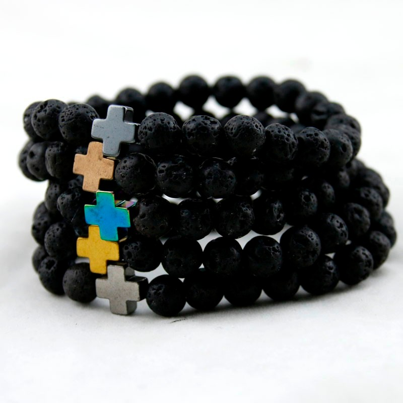 HTB1DMkkMXXXXXb3XpXXq6xXFXXXI - Unisex Lava Stone Style Beads Bracelet
