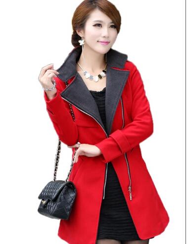 Outono Trench Coat Blusão de Médio-Longo Fino Outerwear das Mulheres Zipper Abrigos Mujer