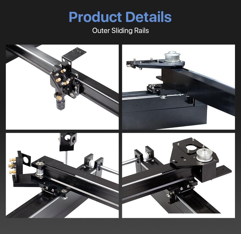 機械部品セット レーザー彫刻切断機 ミリメートル Yazarak 5