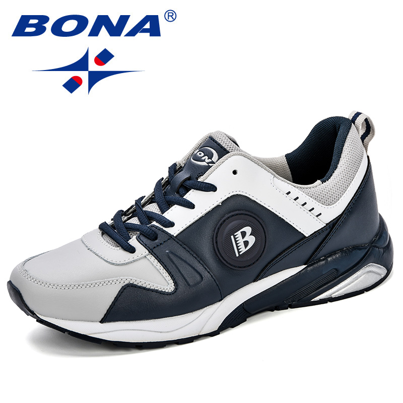 BONA New Popular Style Lightweight Outdoor Men Sport Running Shoes Breathable Soft Athletics Joggingcomfortable Sneakers Shoes new running shoes for men 2017 outdoor breathable mesh light flat shoes comfortable sneakers athletics women lovers sport shoes