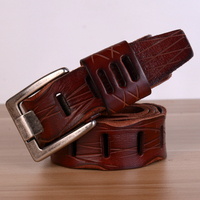 2018 Leisure Mens Genuine Leather Luxury Strap Made Exclusively in Italy Belts for Men 5 Colors Cintos Masculinos Cowboy Belt