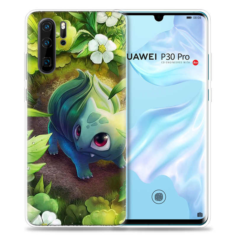 Case for Huawei P30 P20 P10 P9 Mate 10 20 Lite Pro Mobile Cell Phone Bag P Smart Z 2019 Plus Cartoon Pokemons P8 P30Pro P20lite