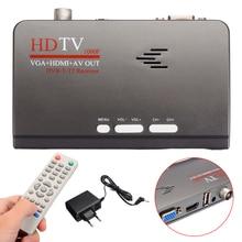 1pc TV Receivers HD 1080P With VGA Version DVB-T/T2 TV Box AV CVBS Receiver+Remote Control+Charger 15x14x5cm приемник спутникового телевидения oem box lcd vga av dvb t blue001