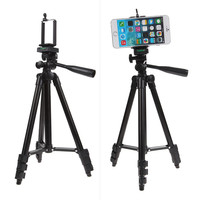 Professional Flexiable Travel Tripod For Digital Camera Camcorder With Stand Holder Carry Bag For IPhone IPad