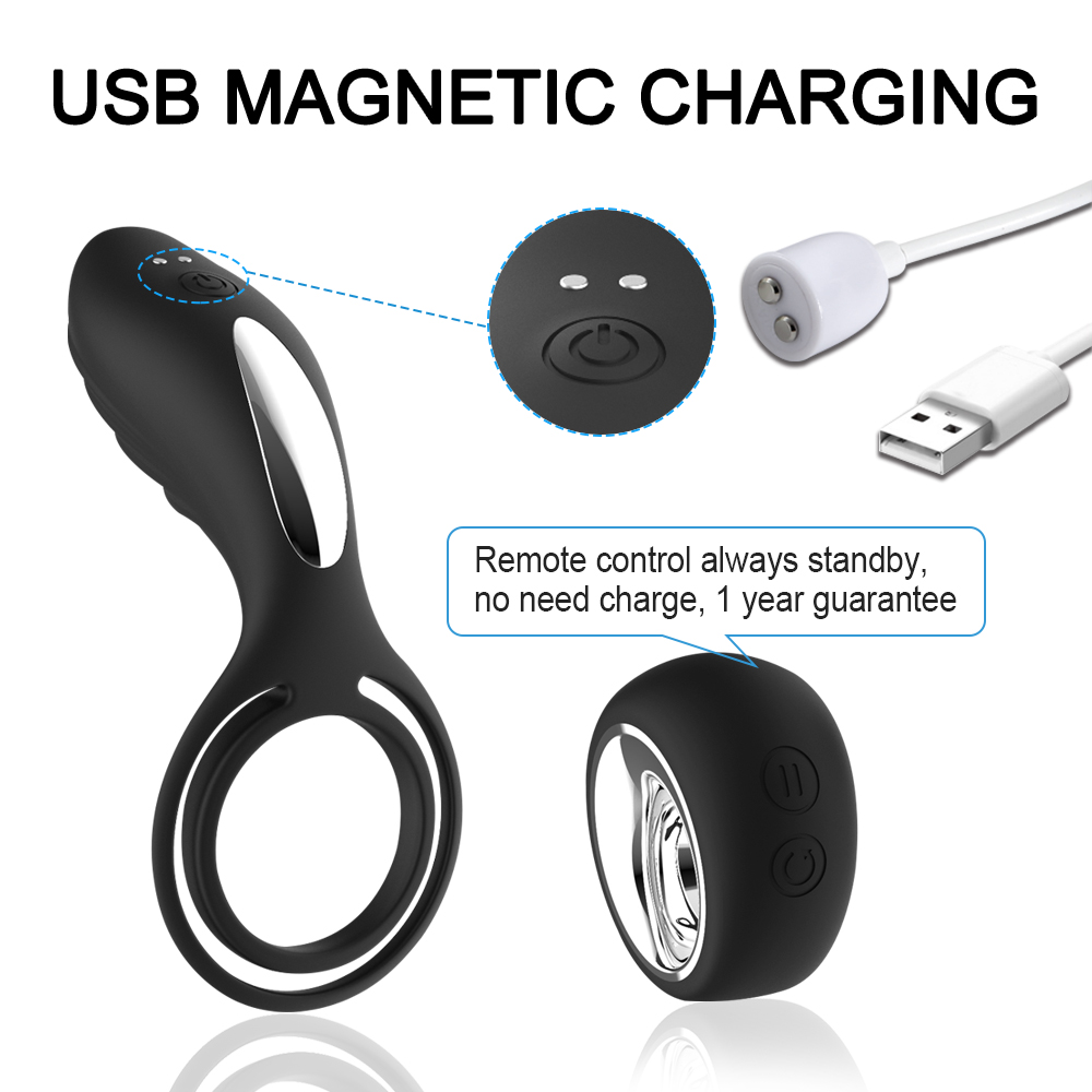 Remote control Pennis Vibrating Ring Anal Vibrator Rechargeable Waterproof 12 Speed Vibrator Adult Product Anal Sex Toy in Vibrators from Beauty Health