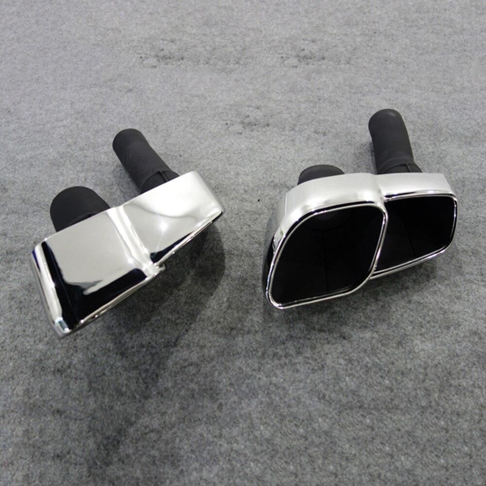 Для Maserati Ghibli 2017 2014 заменить Серебряный задний хвост кончик трубы глушитель нержавеющая сталь крышка отделка заменить