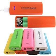 5600 мАч 2×18650 USB Запасные Аккумуляторы для телефонов Батарея Зарядное устройство случай DIY Box для Iphone USB порт для iphone6 plus/ 6/5S для Samsung Galaxy