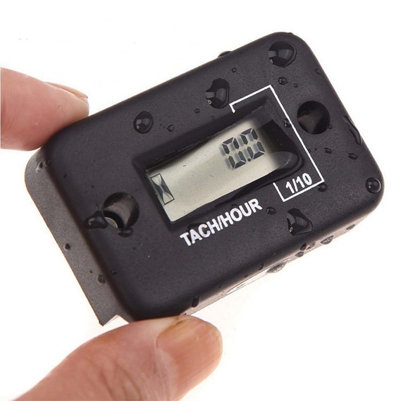 Waterproof Digital LCD Counter Hour Meter for Dirt Quad Bike ATV Motorcycle Snowmobile Jet Ski Boat Pit Bike Motorbike Marine resettable inductive tacho hour volt meter for motorcycle snowmobile atv utv jet ski dirt bike marine pit bike tractor go kart