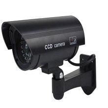 Bảo quản viên Chống Nước Giả Camera quan sát Với Đèn LED Cho Ngoài Trời hoặc Trong Nhà Thực Tế Tìm Kiếm giả Camera An Ninh