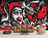 Benutzerdefinierte tapete 3D foto wandbild papier peint abstrakte musik kunst hintergrund wand wohnzimmer schlafzimmer papel de parede 3d tapete