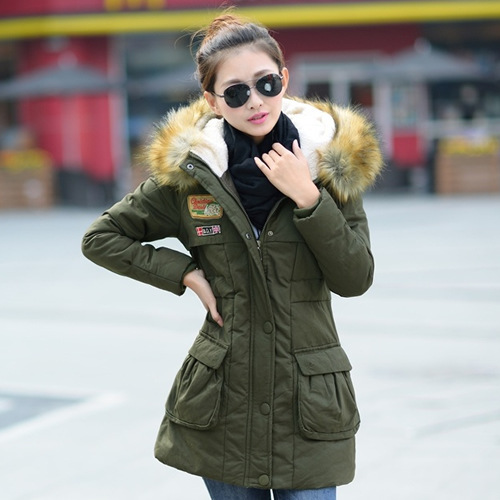 New Korean Fashion Casual Coat All match women s frock coat winter coat Thick cotton padded