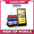 Abierto original nokia lumia 820 ventanas teléfono móvil wifi gps 8mp dual core 8 gb de memoria interna reformado por el envío libre
