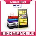 Original unlocked Nokia Lumia 820 Windows mobile phone WIFI GPS 8MP Dual core 8GB internal memory Refurbished by free shipping