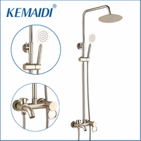 OUBON Fashion Style White Shower Faucet Cold And Hot Water Mixer Single Handle Adjustable Rain Shower