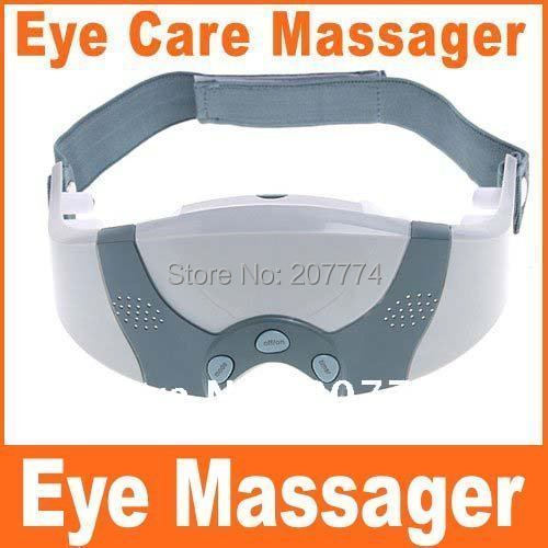 Free shipping! Mask Migraine DC Electric Health Care Forehead Eye Massager Relaxation 110V US Plug &220V EU Plug With Retail Box