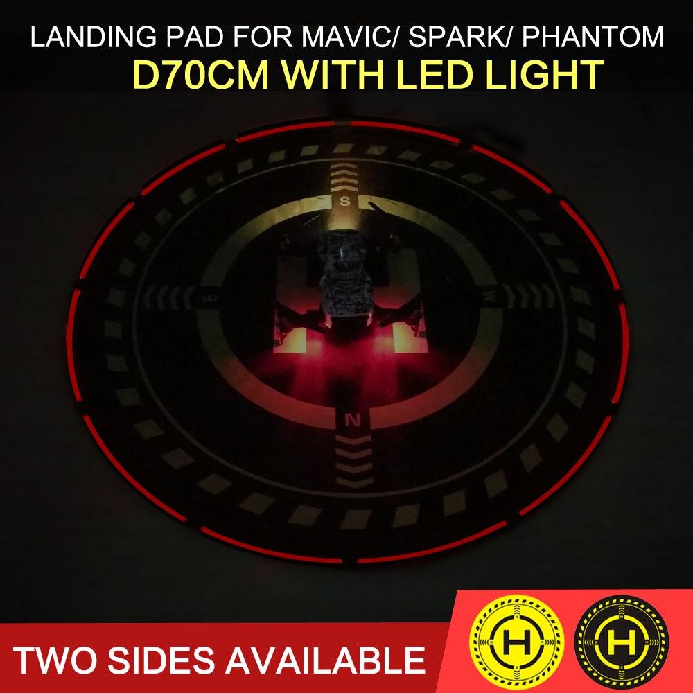 Foldable Landing Pad Helipad Landing Field 70cm with Lighting for DJI font b MAVIC b font