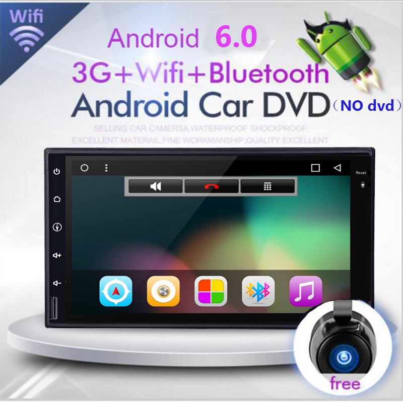 HD 1024X600 Quad Core doppel 2 din Android 8.1 Auto DVD-Radio-Player GPS Navigation system Stereo DDR3 1 gb ROM 16g <font><b>Flash</b></font> 2din image