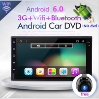 HD 1024X600 Quad Core double 2 din Android 8.1 Car DVD Radio Player GPS Navigation system Stereo DDR3 1GB ROM 16G Flash 2din
