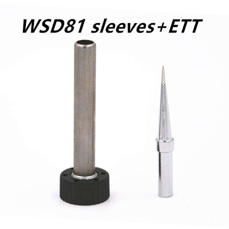 SZBFT For Weller tip WSD81 WSP80 Solder tip Station Iron sleeve + ETT soldering iron tip