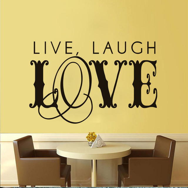 Live Laugh Love Art Word Wall Stickers For Kids Rooms Home Decor Diy Creative Wallpaper