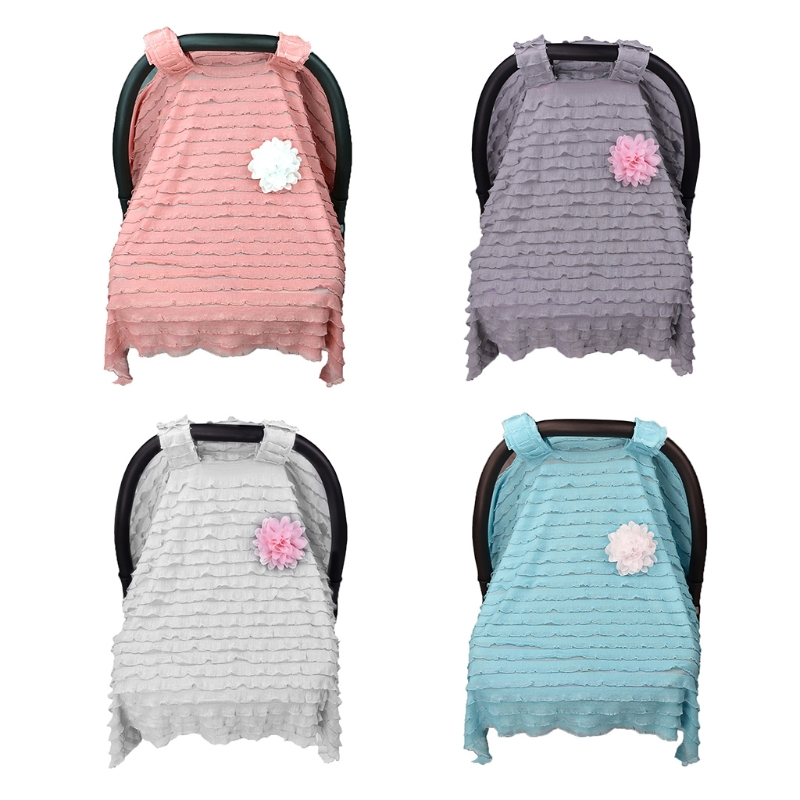 Baby Stroller Cover Lace Breathable Canopy Nursing Car Seat Newborn Sun Protect