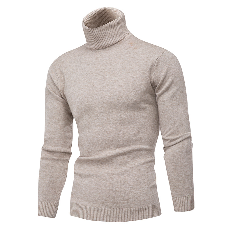 Winter men 39 s knitted turtleneck sweater wool keep warm slim pure color sweaters winter thermal underwear stand collar sweaters in Pullovers from Men 39 s Clothing