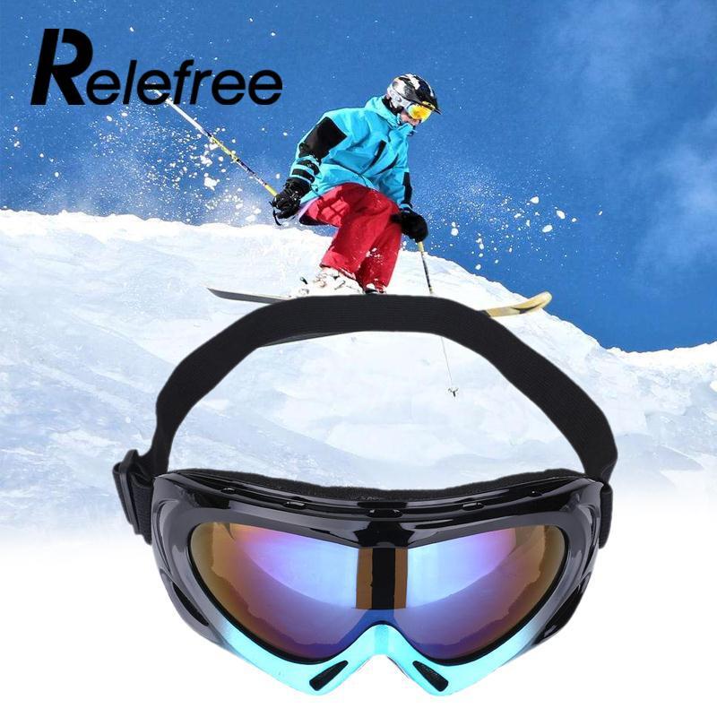 Открытый Горные лыжи сноуборд очки Лыжный Спорт монослой ветрозащитные Очки для походов глаз Очки