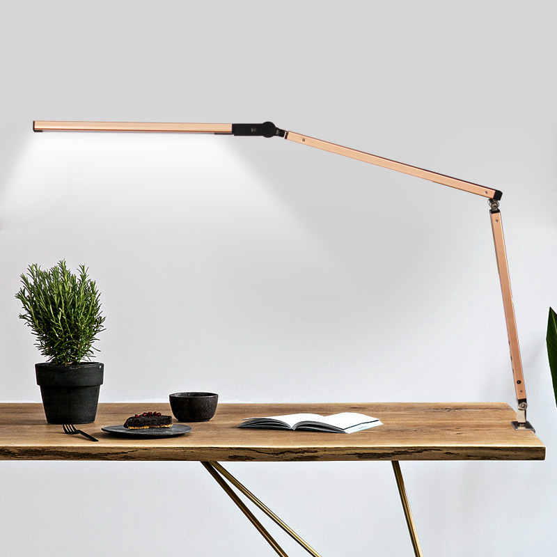LED Desk Lamp Folding Adjustable Long Arm 3-Level Brightness for Office Reading Art Decorative Decor Desk Lamp 8W LightLED Desk Lamp Folding Adjustable Long Arm 3-Level Brightness for Office Reading Art Decorative Decor Desk Lamp 8W Light