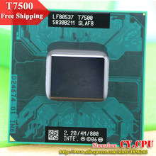 Free Shipping intel CPU laptop Core 2 Duo T7500 CPU 4M Socket 479 Cache/2.2GHz/800/Dual-Core Laptop processor(China)