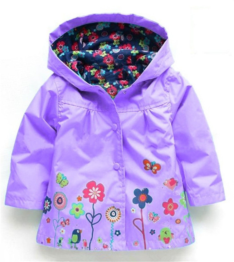 Autumn Winter Girls Boys Windbreaker Raincoat Children Outerwear