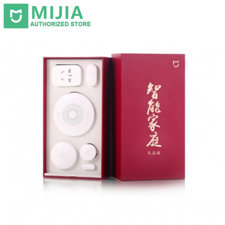 Original Xiaomi Mijia Gift Box Smart Home Kit Gateway Door Window Sensor Human Body Sensor Wireless Switch Zigbee Socket Sets original xiaomi smart home sets gateway 2 door window sensor human body sensor wireless switch multifunctional smart devices kit