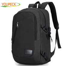 Youpeck External Charging USB Function Laptop Backpack Anti-theft Man Business Dayback Women Travel Bag 15 15.6 inch bag