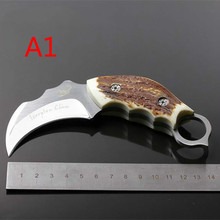High quality 59-60HRC hardness scorpion camping survival knife small straight hunting knife