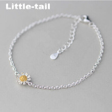 2017 New listing 925 silver jewelry Classic fashion small fresh sunflowers bracelet female Korean high-quality jewelry