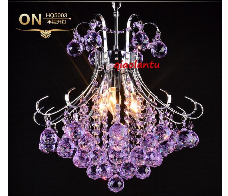Red/Purple/Champagne K9 Crystal Chandelier Light Fixtures
