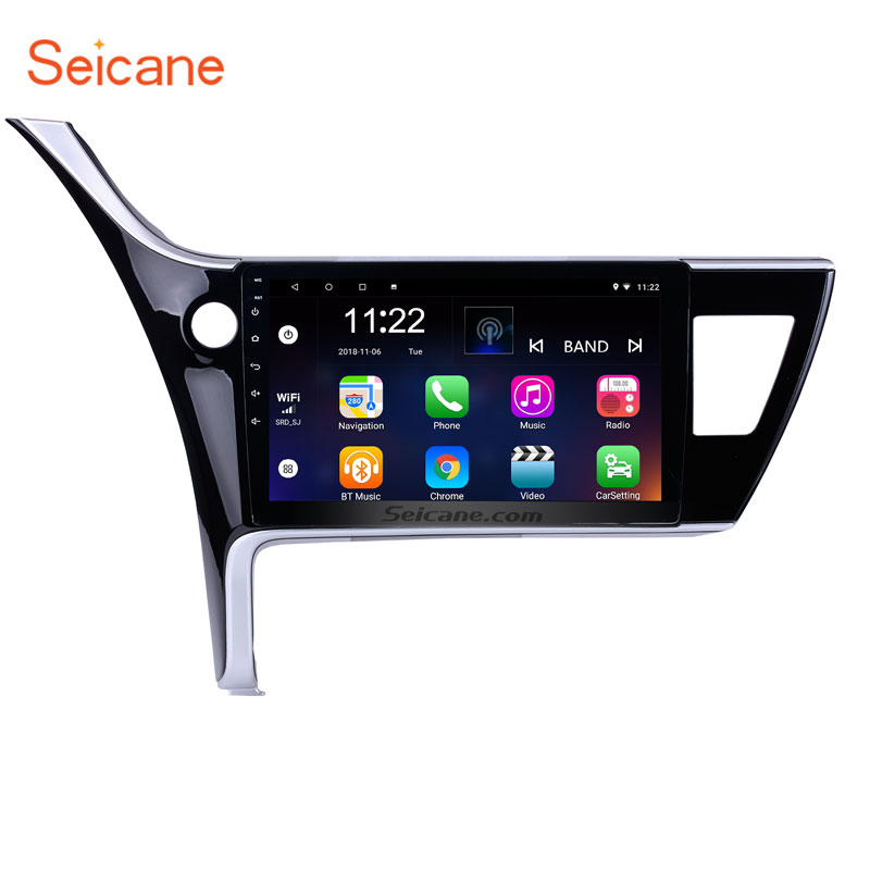 Seicane 2Din Android 6.0/7.1/8.1 10.1 Head Unit Car Radio GPS Navi Multimedia Player For 2017 Toyota Corolla left driving