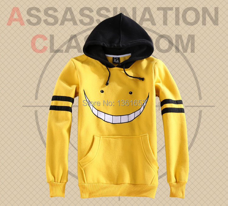 Assassination Classroom cos hoodies for adult couples Korosensei hoodis janpanese animie cosplay costumes for party