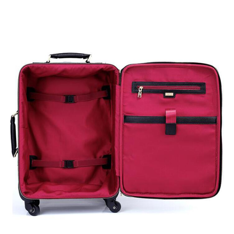 """TRAVEL TALE 20"""" 24"""" inch women monster suitcase spinner leather luggage trolley case for travel-in Rolling Luggage from Luggage & Bags    3"""