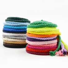 Lshangnn 5mm Diy accessories twisted round 100 cotton cord decoration rope Beige cotton rope hand woven