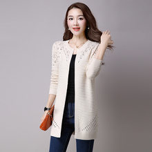 5c6bfc9e4aea Cardigan 2018 spring and summer new women s long sweater Korean shawl was  thin sweater loose hollow