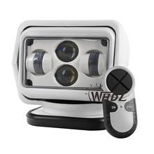 1 Stücke 60 Watt Wireless Führte Meeressuchscheinwerfer LED Suchlicht 7 zoll Fernbedienung Spot-Licht Auto LED Arbeitsscheinwerfer