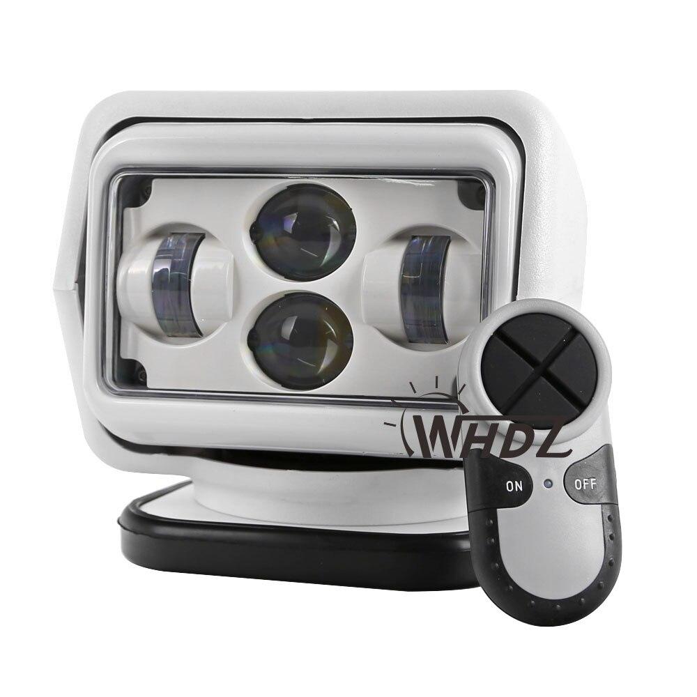 1Pcs 60W Wireless Led <font><b>Marine</b></font> Search Light LED Search Light 7inch Remote Control Spot Light Car LED Work Lights