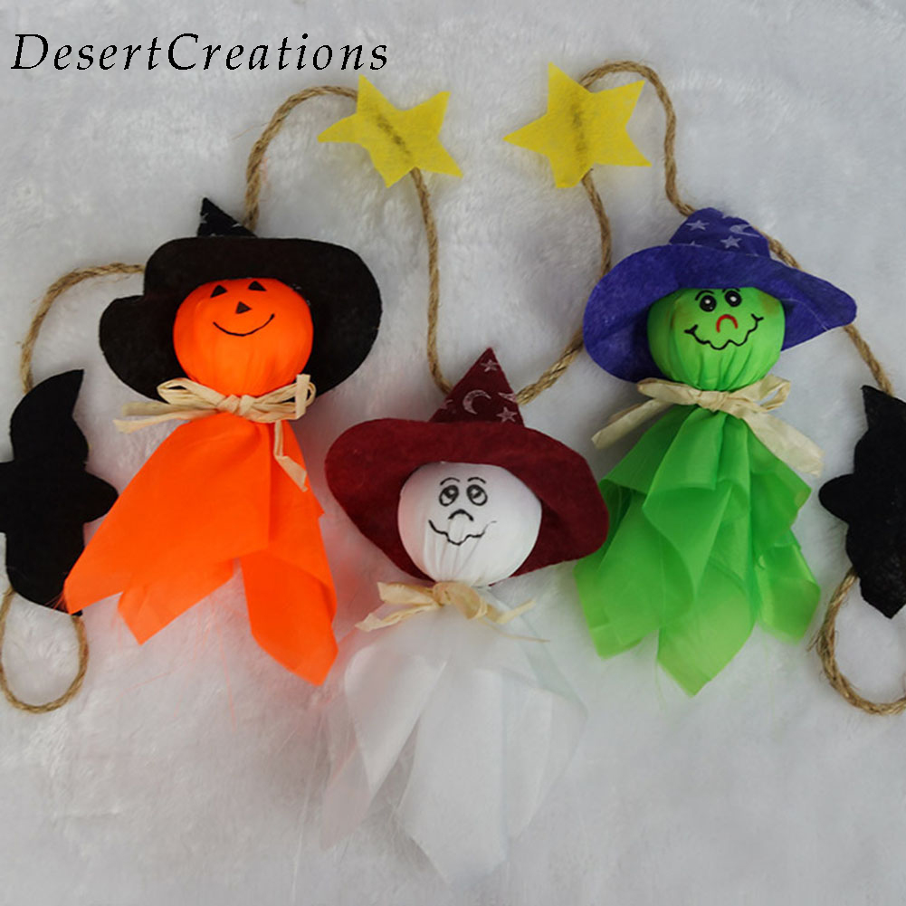 1pc halloween decorations flag doll lanyard cute pull flower bar classroom dress up props - Halloween Classroom Decorations
