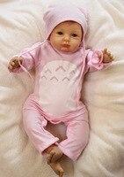 22 дюймов силиконовые мягкие виниловые возрождается для маленьких девочек куклы новорожденных реалистичные Младенцы ручной работы подарок