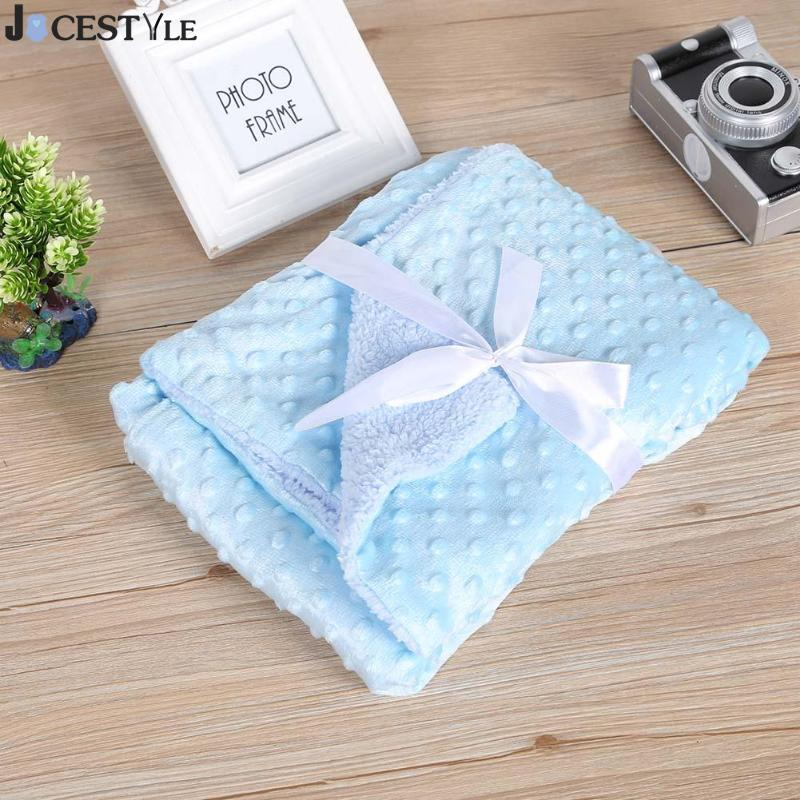Baby Blankets 2019 New Soft Double Layer Coral Cashmere Infant Swaddle Bebe Bowtie Stroller Wrap Newborn Baby Bedding Blanket