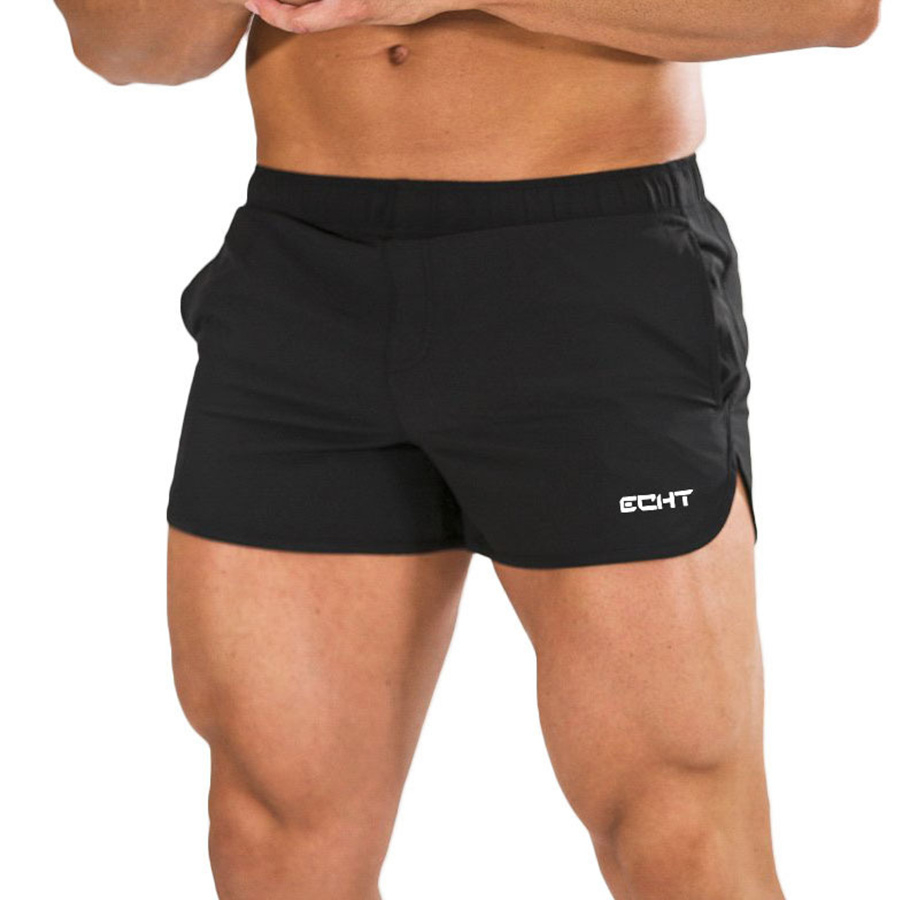 Summer New Mens Bodybuilding Shorts Gyms Fitness Workout Sportswear Bottoms Male Crossfit Short Pants Casual Thin Beach Shorts
